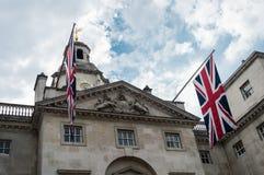 Les gardes de cheval royales défilent à la Chambre d'Amirauté à Londres Photographie stock libre de droits