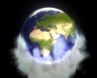 Les gaz à effet de serre enveloppent la terre Images libres de droits