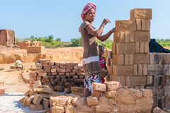 Les gens à ANTANANARIVO, MADAGASCAR Images libres de droits