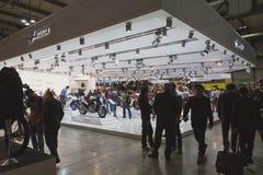 Les gens à EICMA 2014 à Milan, Italie Images stock