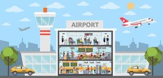 Les gens à l'aéroport illustration libre de droits