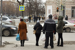 Les gens à l'carrefours Photos libres de droits
