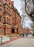Les gens à l'entreprise informatique de Harvard dans la cour de Harvard Images libres de droits