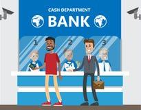 Les gens à la banque illustration libre de droits