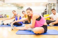 Les gens à la gymnastique Image stock
