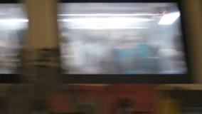 les gens à la métro, Rome, Italie, 4k banque de vidéos