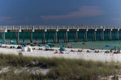 Les gens à la plage Photos stock