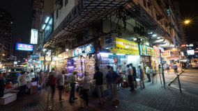 Les gens à la poissonnerie en Hong Kong images stock