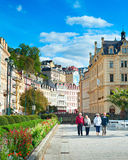 Les gens à la station de vacances de Karlovy Vary Image libre de droits