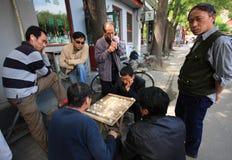 Les gens à Pékin, Chine Images libres de droits