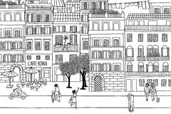 Les gens à Rome illustration stock