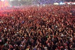 Les gens à un concert vivant Image libre de droits