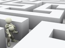 les gens 3d dans le labyrinthe illustration de vecteur