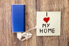 Les gens aiment leur maison La maison est où vous trouvez la paix après un jour agité au travail Belle maison Détente à la réside photographie stock libre de droits