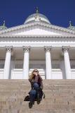 Les gens : Appel téléphonique de Helsinki Image libre de droits