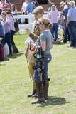 Les gens appréciant la grande exposition de Yorkshire Images libres de droits