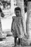 Les gens au Bénin, en noir et blanc Photos libres de droits