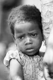 Les gens au Bénin, en noir et blanc Images stock
