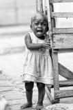 Les gens au Bénin, en noir et blanc Photo stock