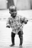Les gens au Bénin, en noir et blanc Photos stock