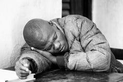 Les gens au Bénin, en noir et blanc Photo libre de droits
