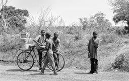 Les gens au Bénin (noir et blanc) Images libres de droits