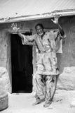 Les gens au Bénin (noir et blanc) Photo libre de droits