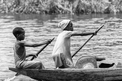 Les gens au Bénin (noir et blanc) Photos libres de droits
