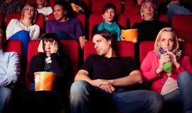 Les gens au cinéma Photos libres de droits