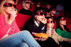 Les gens au cinéma Photos stock