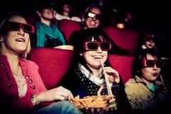 Les gens au cinéma Photographie stock