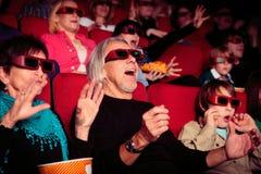 Les gens au cinéma Images stock