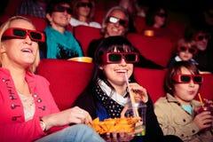 Les gens au cinéma Photographie stock libre de droits