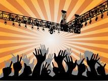 Les gens au concert Images stock