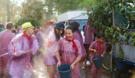 Les gens au festival de Haro Wine Festival Images libres de droits