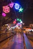 Les gens au festival de lanterne à Kaohsiung, Taïwan par la rivière d'amour Photos libres de droits