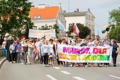 Les gens au rassemblement dans Elblag images libres de droits