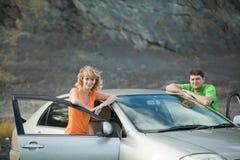 Les gens au véhicule Photo stock