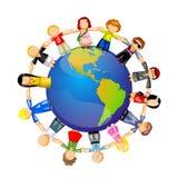 Les gens autour du globe Photo stock