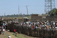 Les gens aux routes de l'Ethiopie en Afrique Images libres de droits