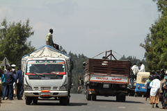 Les gens aux routes de l'Ethiopie en Afrique Photographie stock