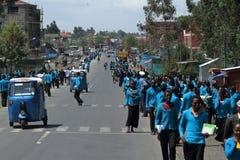 Les gens aux routes de l'Ethiopie en Afrique Image libre de droits