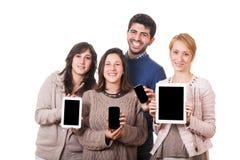 Les gens avec le PC de tablette Photographie stock libre de droits