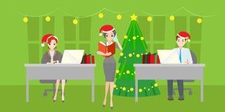 Les gens avec Santa Image libre de droits