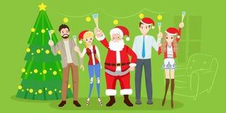 Les gens avec Santa Photographie stock