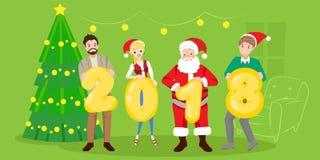 Les gens avec Santa Photos stock