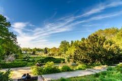 Les gens ayant l'amusement dans le parc public de Herastrau la journée de printemps Photo stock