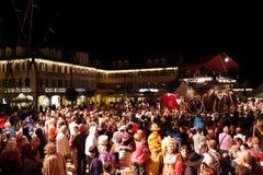 Les gens célèbrent l'exposition vénitienne Photo libre de droits