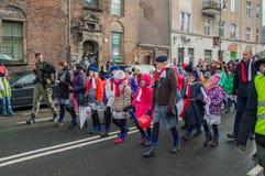 Les gens célébrant le Jour de la Déclaration d'Indépendance national à Danzig en Pologne Célèbre le quatre-vingt-dix-neuvième ann Photographie stock libre de droits