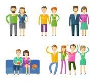 Les gens, calibre folklorique de conception de logo de vecteur marié Photos libres de droits